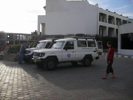 Safari sākas ar to, ka džipi atbrauc pēc Jums uz viesnīcu