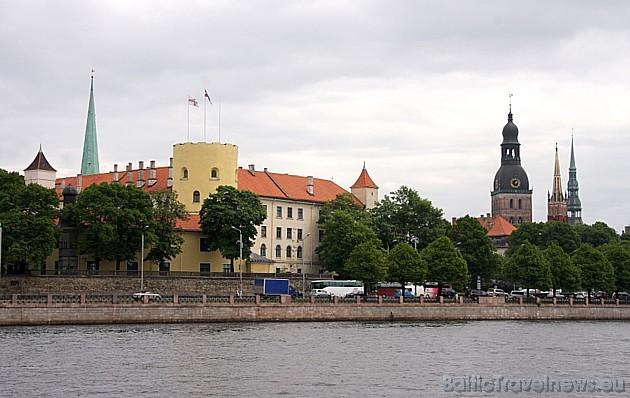Skats uz Latvijas prezidenta pili