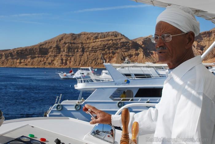 Iepazīsti Ras Mohammed nacionālo parku braucienā ar kuģīti pa Sarkano jūru. Kuģa kapteinis
