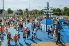 Ar ziepju burbuļu salūtu Rīgā atklāj Centra sporta kvartāla rotaļu laukumu 6
