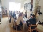 Urbānās Parīzes nekurienes vidū - mākslinieku mājā - meklējams smalks restorāniņš «The Office» 17