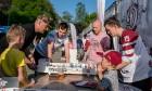 Kaislīgākos hokeja fanus, kā ik gadu, pulcē Hokeja fanu māja pie «Islande Hotel» 8