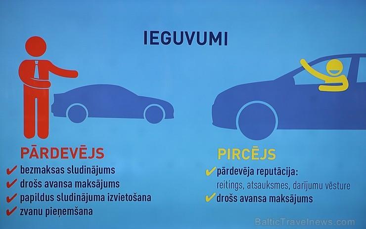Restorāna gaisotnē tiek prezentēts citāds auto sludinājumu portāls «Amo»