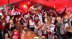 Hokeja fanu māja «Dinamo Rīga»: Latvija uzvar Austriju ar teicamu rezultātu. Atbalsta: «Rīga Istande Hotel» 19