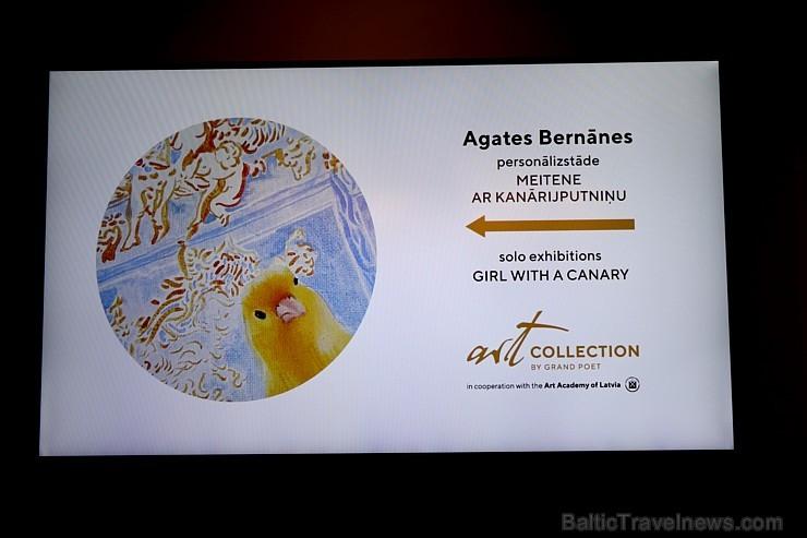 Jaunā māksliniece Agate Bernāne rīko personālizstādi MEITENE AR KANĀRIJPUTNIŅU viesnīcā «Grand Poet by Semarah Hotels»