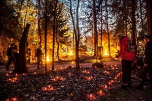 Vienkoču parkā norisinājās Uguns Nakts, kura mērķis ir vienu īso rudens dienu padarīt ilgāk gaišu, dot iespēju uzlādēt sevi ar sveču gaismu un siltumu 11